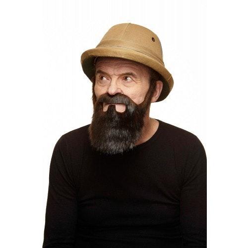 Snor met baard Jamie bruin 500 500