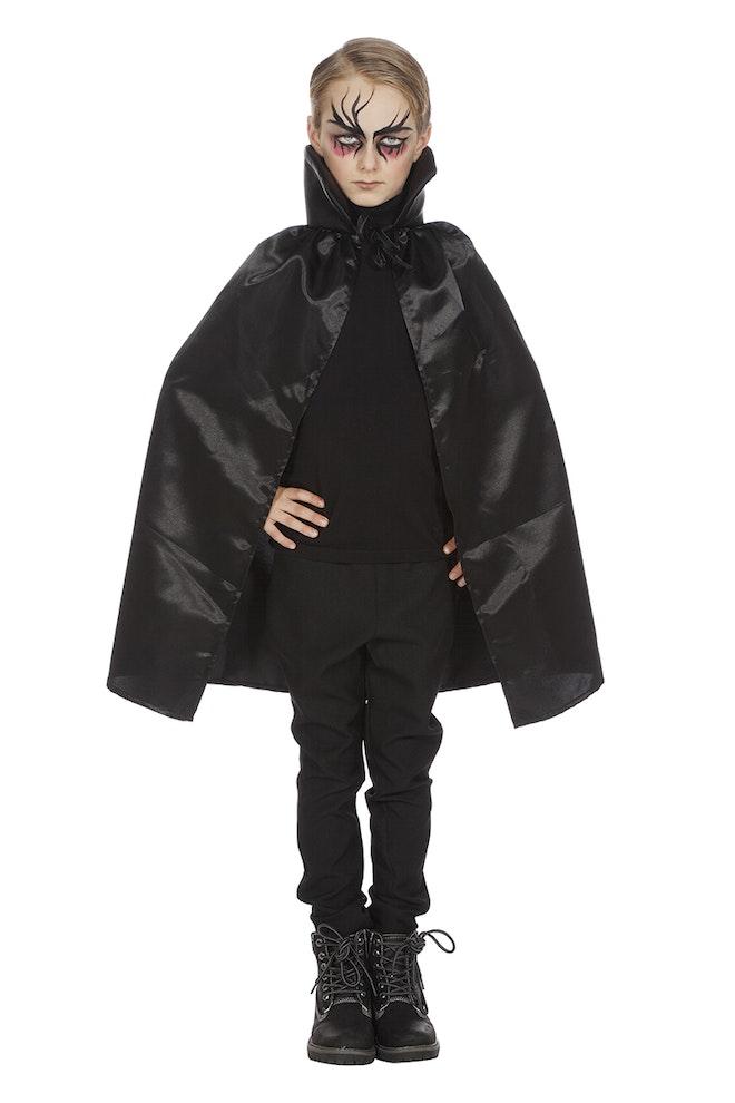 Dracula cape dubbel met kraag zwart ONE SIZE 800 1200