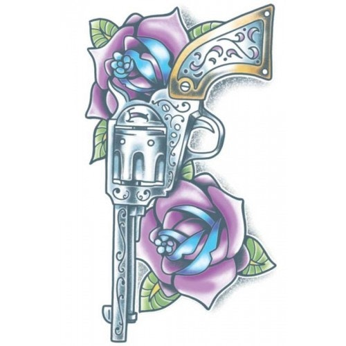 Tattoo Day of the dead pistola 500 500