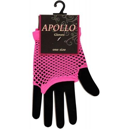 Visnet vingerloze handschoen pink 500 500