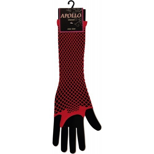 Visnet lang vingerloze handschoen red 500 500