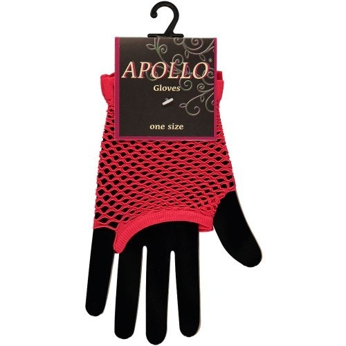 Visnet vingerloze handschoen rood 500 500