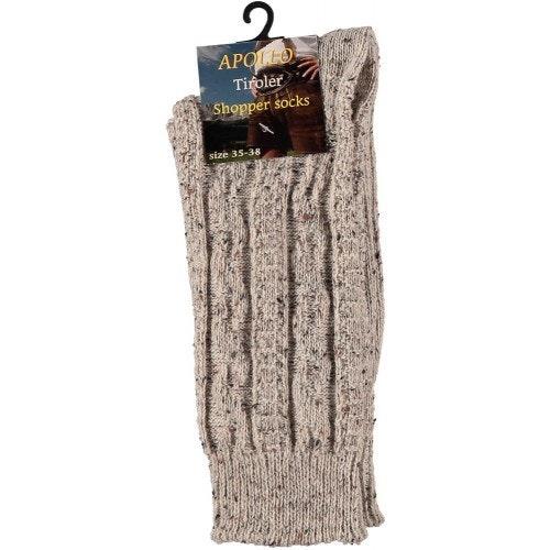 Tiroler shopper sokken beige 500 500