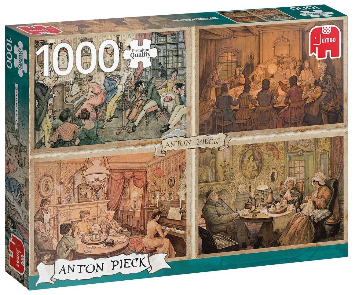Jumbo legpuzzel Anton Pieck: Living Room Entertainment 1000 stukjes