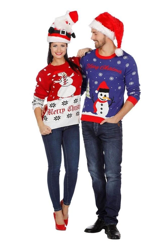Kersttrui rood sneeuwman 920 1380