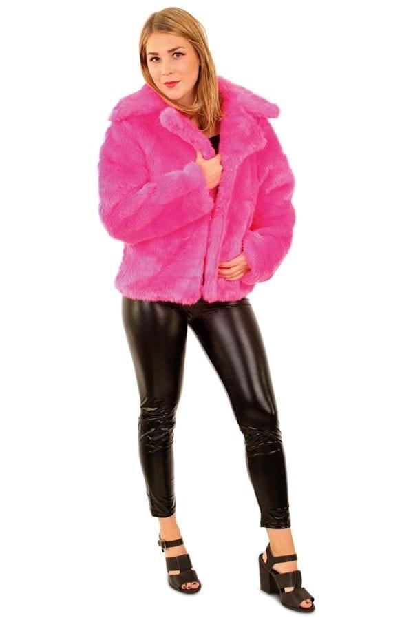 Bontjas fluor pink 600 900