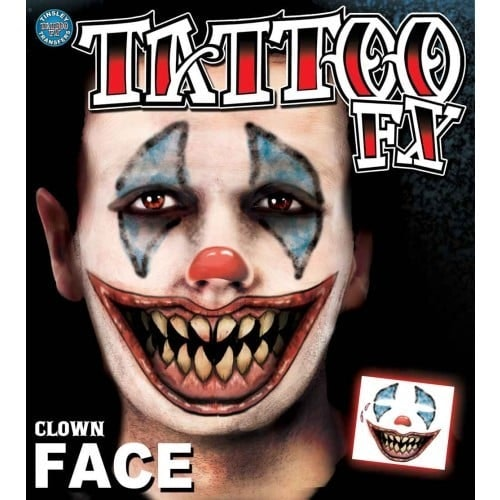 Face tattoo Clown 500 500