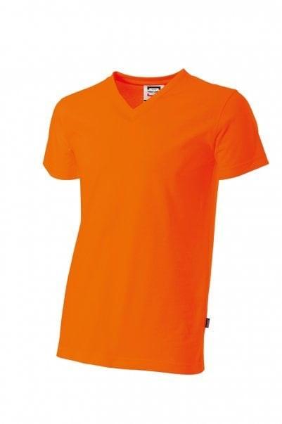 T-shirt herenv-hals slim-fit Orange 401 603