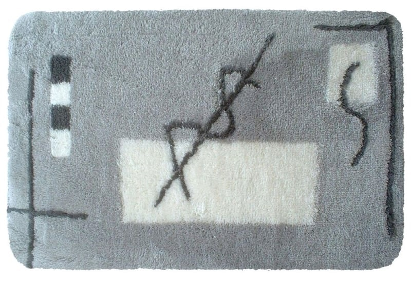 Bidetmat 50x60cm grijs design print
