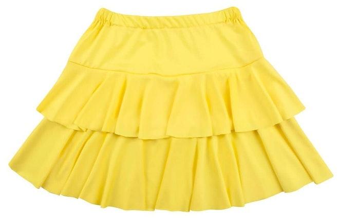 Minirok ruffles geel 1000 649