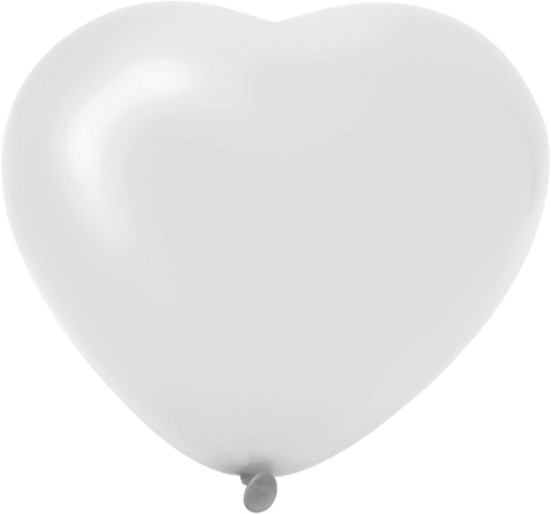 Ballon witte hartjes