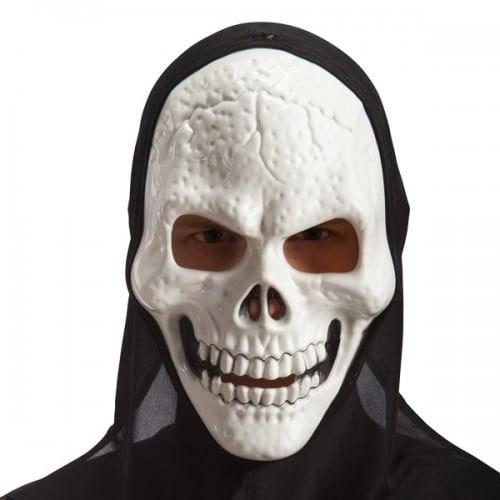 Skeleton mask in hard PVC with hood 500 500