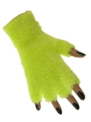Zachte Fluffy vingerloze handschoenen geel