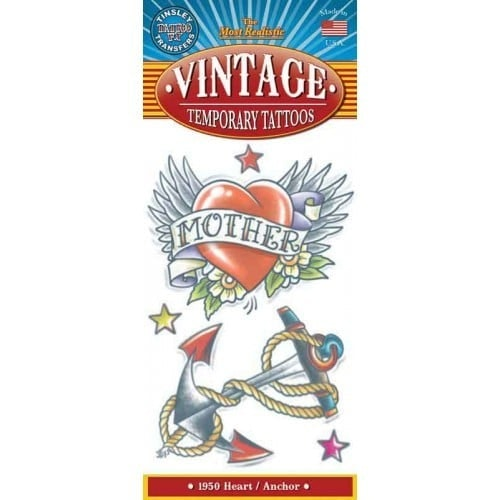 Tattoo vintage heart anchor 1950 500 500