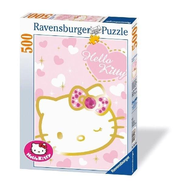 Ravensburger puzzel 500 stukjes Sprankelende Hello Kitty op=op 608 600