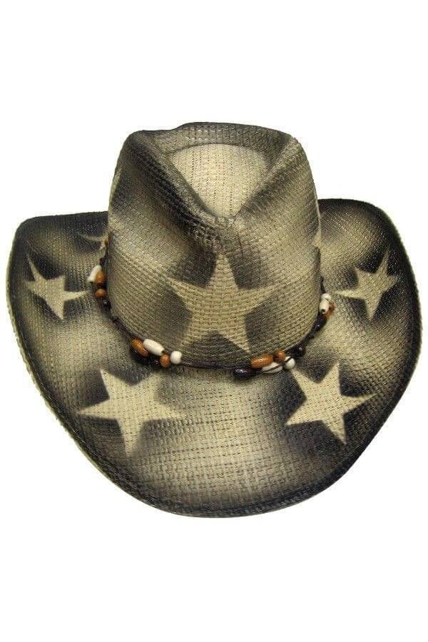 Cowboy hoed met sterren zwart 600 900