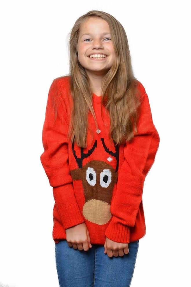 Kersttrui rood rendier kids 920 1380