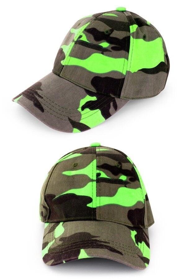 Pet camouflage neon groen 600 900