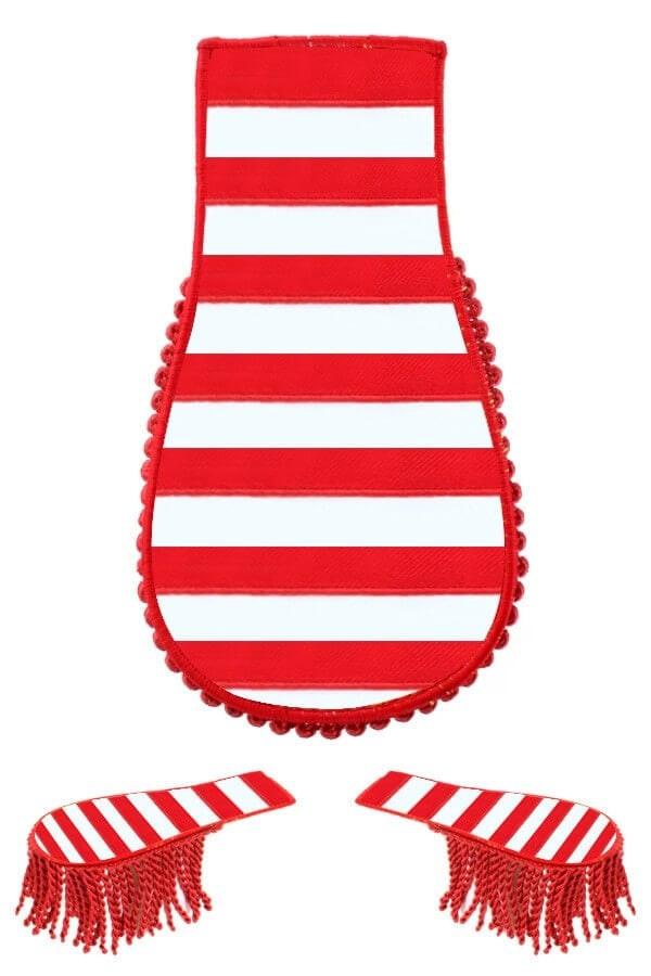 Schouder epaulette rood/wit 600 900