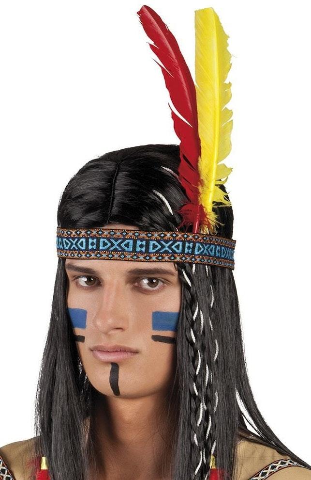 Indianenband met veren 649 1000