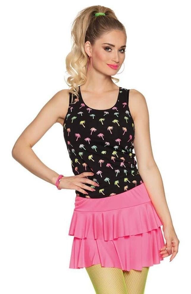 Minirok ruffles pink 649 1000