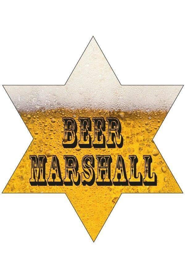 Sheriffster beer Marshall met lamp 600 900