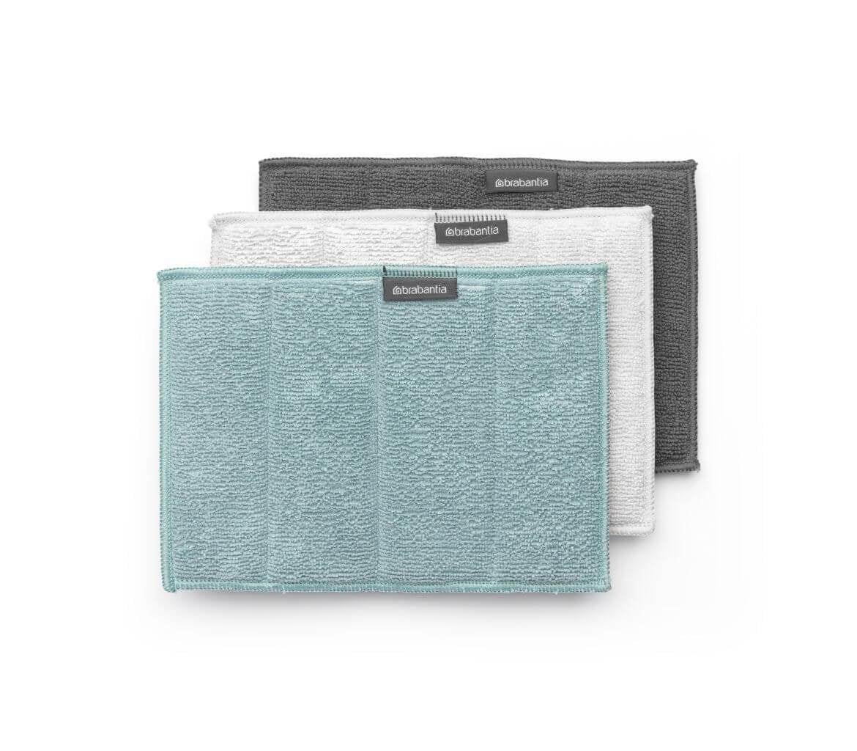 Brabantia 3 microvezel sponsdoeken mint  gebruiksgemak   de microvezel absorbeert tot 7 x zijn gewicht aan ...