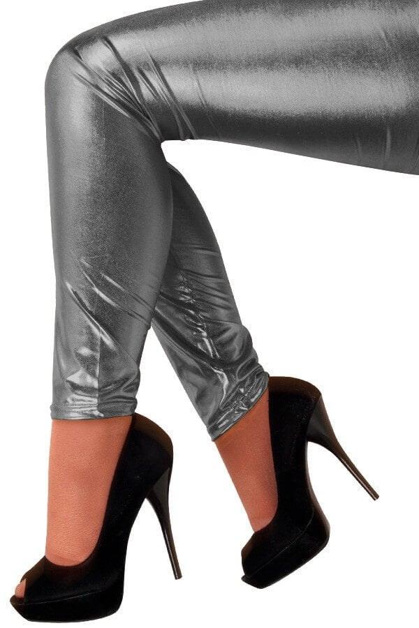Metallic legging antraciet 600 900