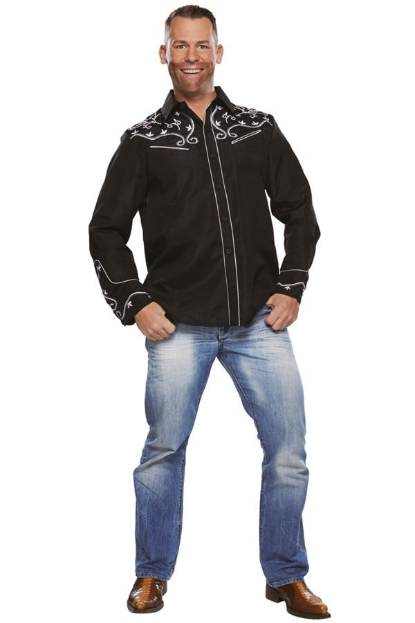 Country blouse zwart 600 900