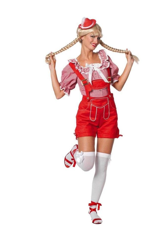 Dirndl blouse rood/wit 920 1380