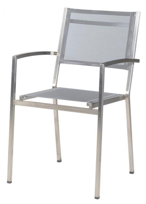Plaza dining stoel Ash Grey rvs 4SO