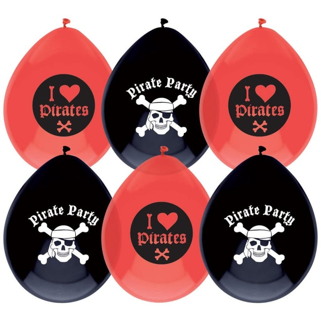 Ballonnen Piraten 6 stuks 1024 1024