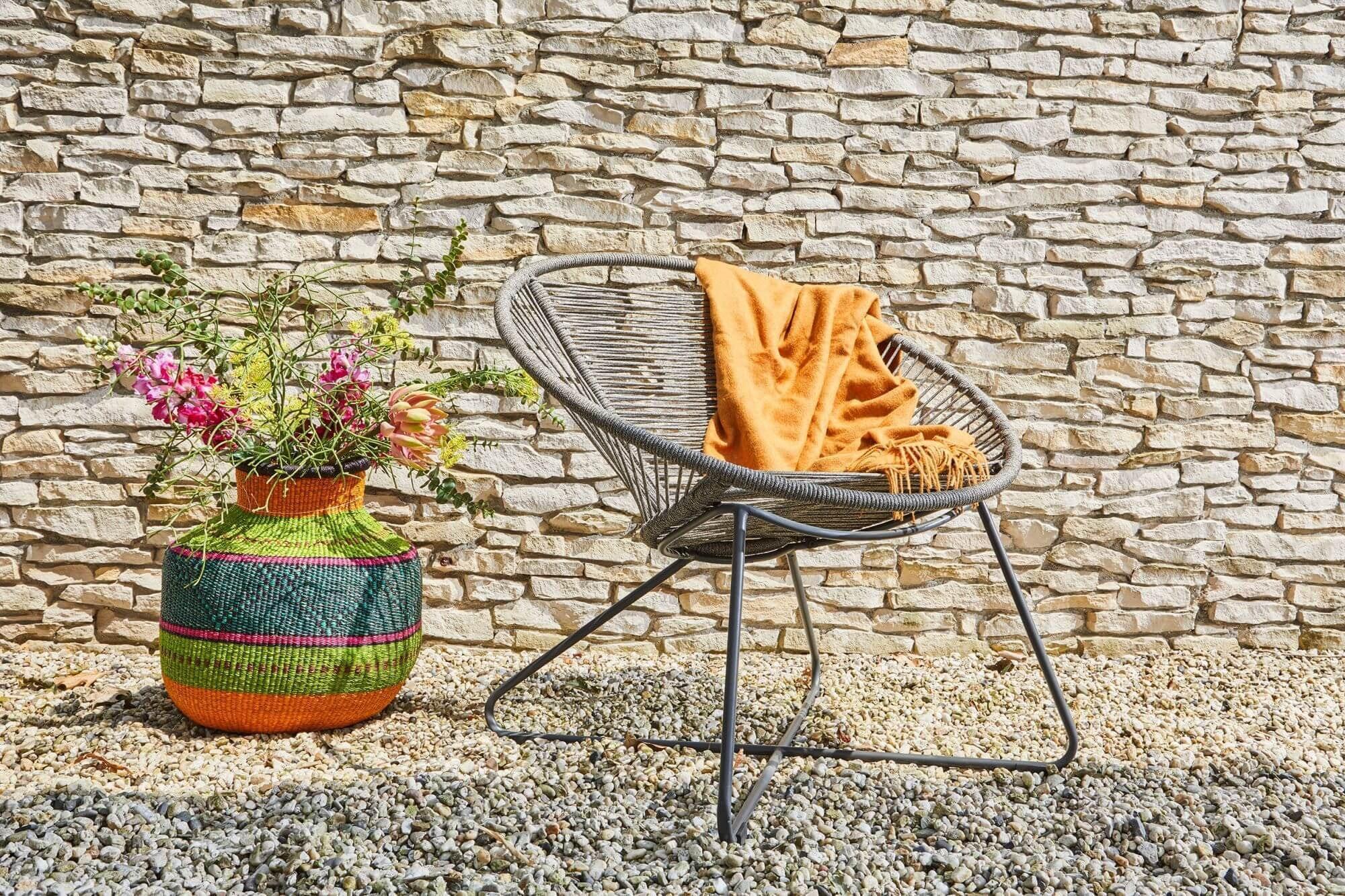 Moni lounge tuinstoel, SUNS Rope Antraciet