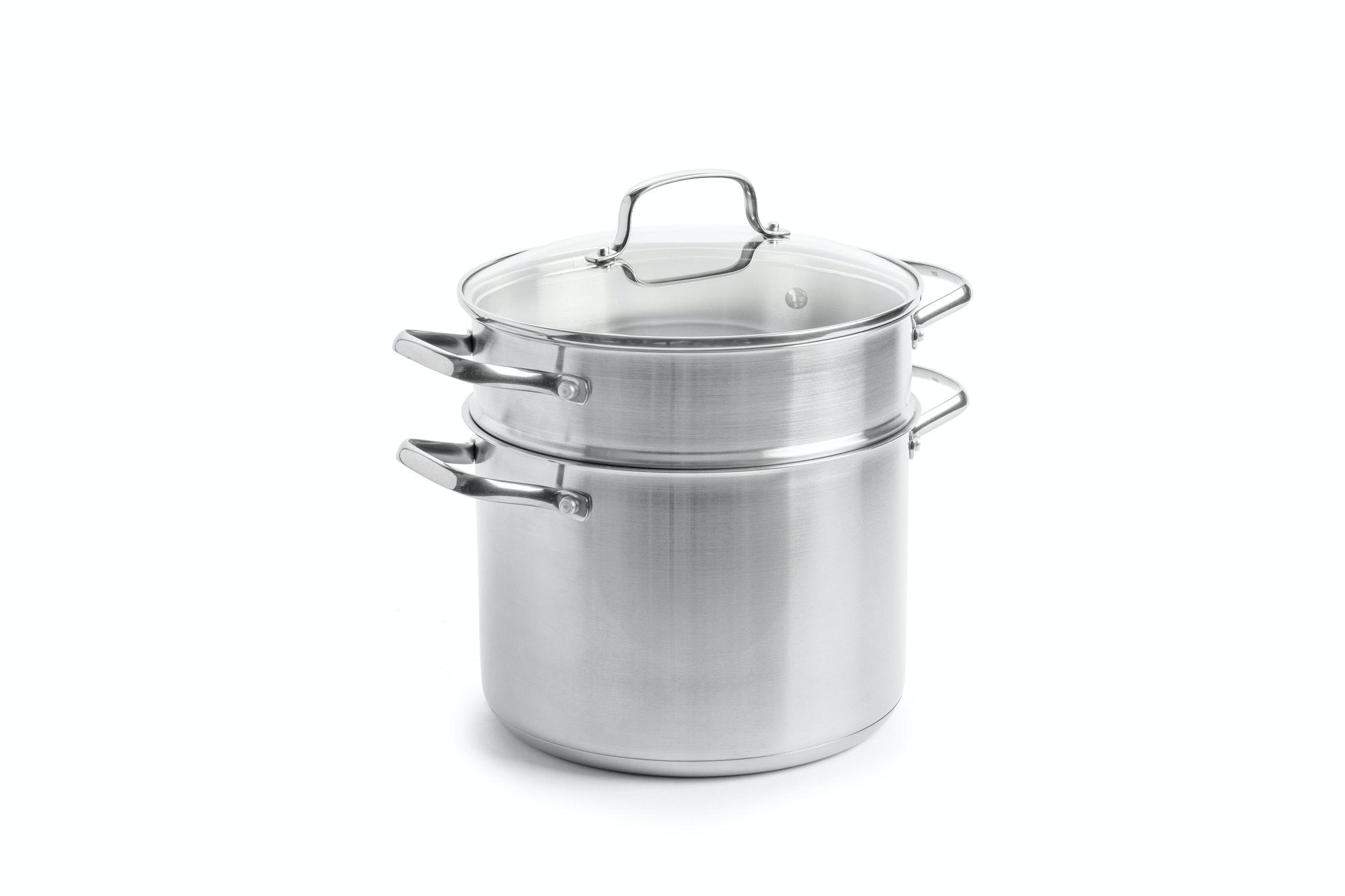 BK Dagelijkse kost kookpan met pasta inzet 24 cm 6 liter