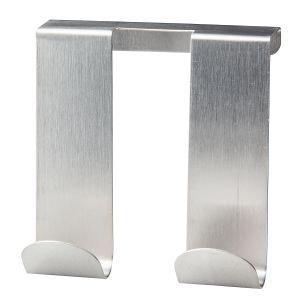 Fackelmann tecno dubbele deurhaak zilver  95x90mm, rvs